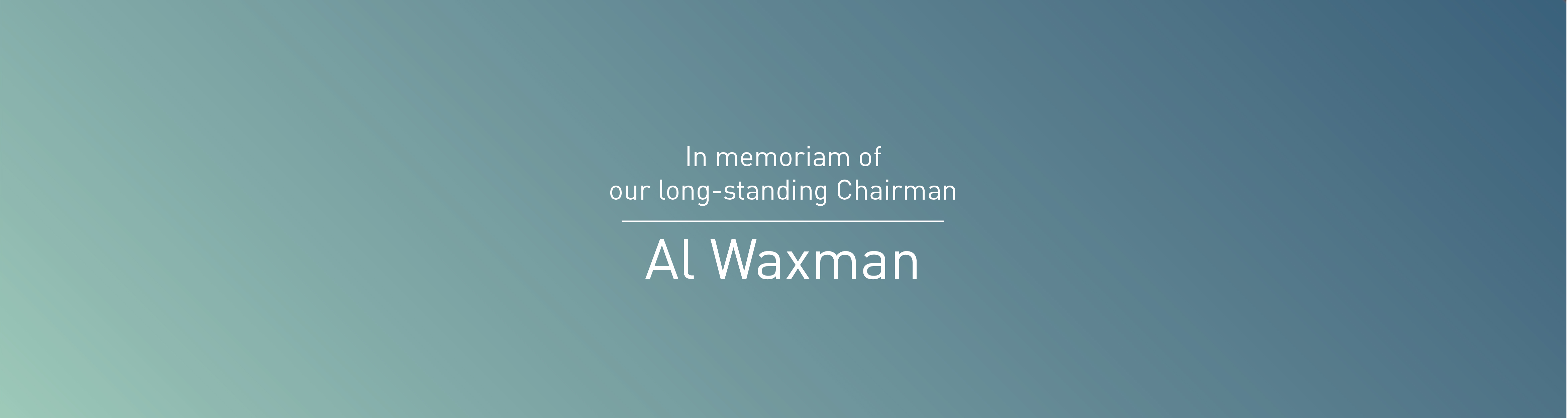 The entire HealthEdge community mourns the passing of our longtime Chairman, Al Waxman